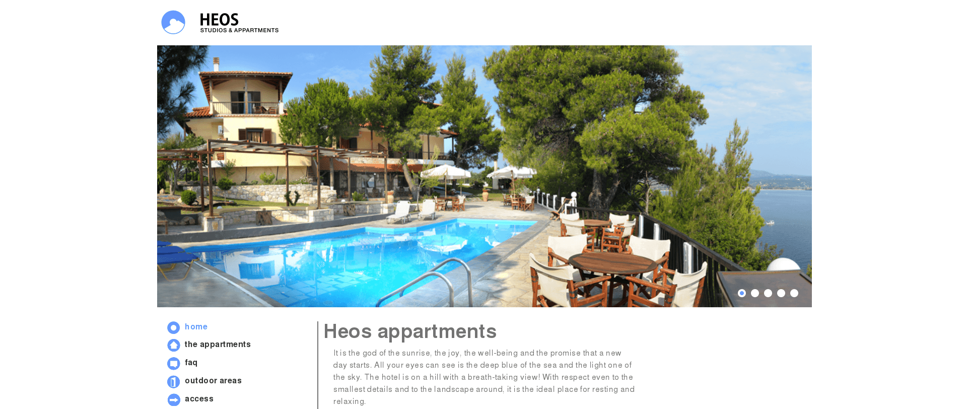 heos appartments in vourvourou, halkidiki, greece